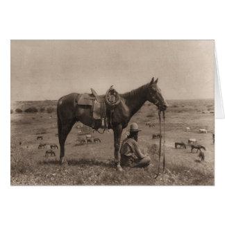 The Horse Wrangler 1910 Card