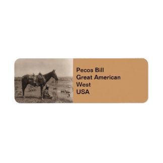 The Horse Wrangler 1910 Label