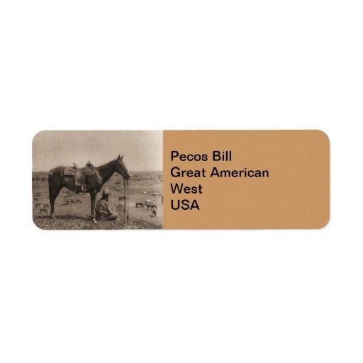 The Horse Wrangler 1910 Return Address Label