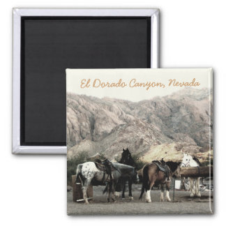 the Horses 2 Inch Square Magnet