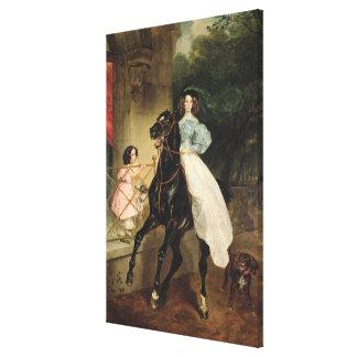 The Horsewoman, Portrait of Giovanina Canvas Print