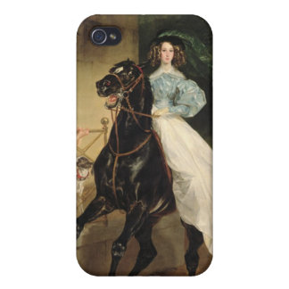 The Horsewoman, Portrait of Giovanina iPhone 4 Cover