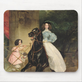 The Horsewoman, Portrait of Giovanina Mousepads