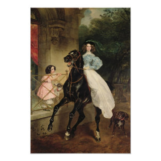 The Horsewoman, Portrait of Giovanina Poster