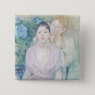 The Hortensia, or The Two Sisters, 1894 Pinback Button