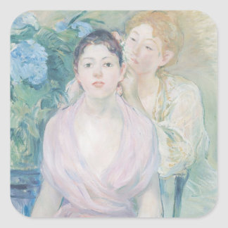 The Hortensia, or The Two Sisters, 1894 Square Sticker