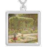 The Horticulturalist's Garden Square Pendant Necklace