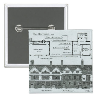 The Hostelry and The Stores 2 Inch Square Button