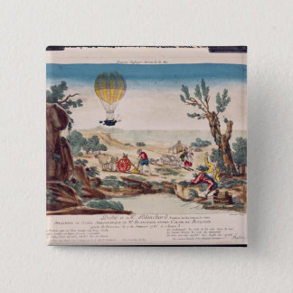 The Hot-Air Balloon of Jean Pierre Blanchard Pinback Button