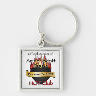 The Hot Club Silver-Colored Square Keychain