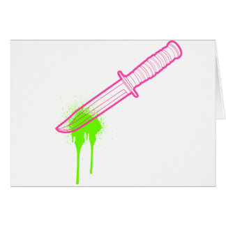 The Hot Pink Knife Card