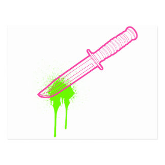 The Hot Pink Knife Postcard