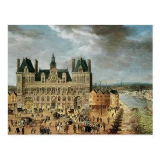 The Hotel de Ville, Place de Greve Postcard