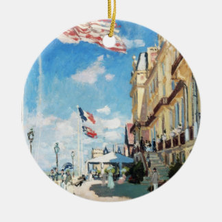 The Hotel of Roches Noires, Trouville Monet Claude Christmas Tree Ornament