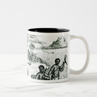 The Hottentot Manner of Fishing Two-Tone Coffee Mug