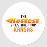 The hottest girls are from Kansas Sticker
