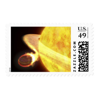 The hottest known planet in the Milky Way Postage Stamp