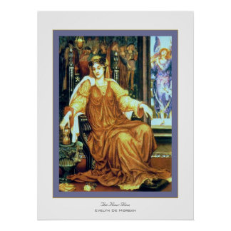 The Hour Glass ~ Evelyn De Morgan Poster