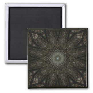The Hours Square Clock Mandala Magnet