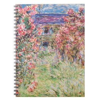 The House among the Roses by Claude Monet Notebook
