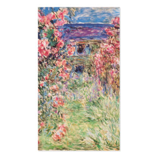 The House among the Roses, Claude Monet Double-Sided Standard Business Cards (Pack Of 100)