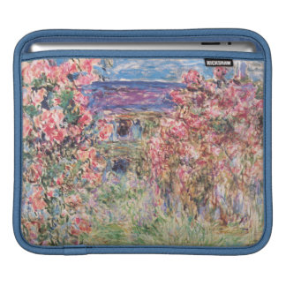 The House among the Roses, Claude Monet iPad Sleeve