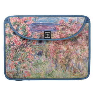 The House among the Roses, Claude Monet Sleeves For MacBook Pro