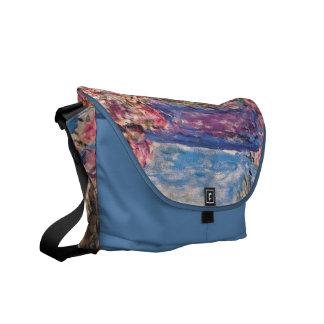 The House among the Roses, Claude Monet Messenger Bag