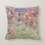 The House among the Roses, Claude Monet Pillows