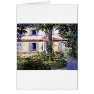 The House at Rueil by Edouard Manet Card