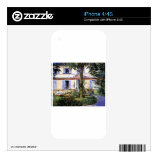 The House at Rueil by Edouard Manet Decals For The iPhone 4