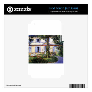 The House at Rueil by Edouard Manet iPod Touch 4G Decal
