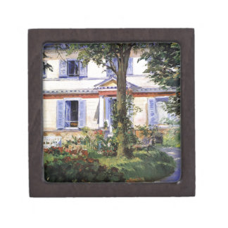 The House at Rueil by Edouard Manet Jewelry Box