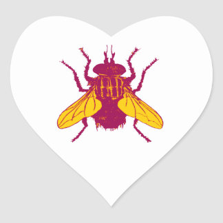 The House Fly Heart Sticker