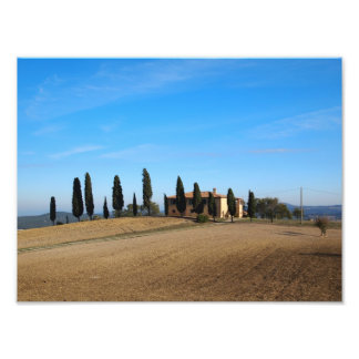 The house in Tuscany photo print