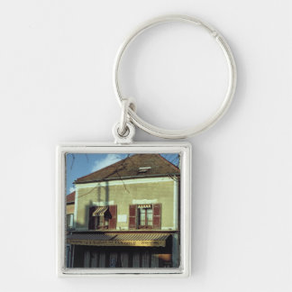 The house in which Vincent van Gogh Silver-Colored Square Keychain