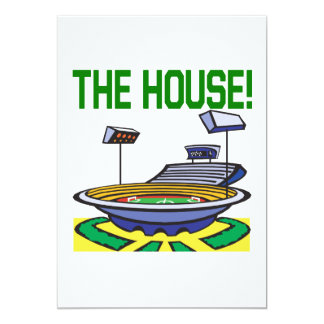 The House 5x7 Paper Invitation Card