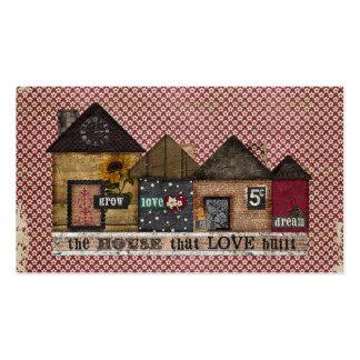 The House Love Built Folk Art Business Card