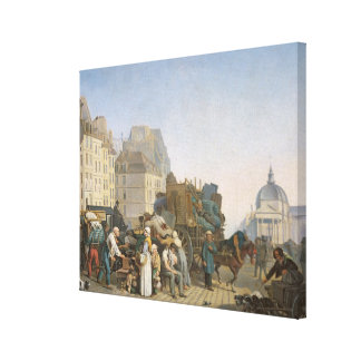 The House Movers, 1840 Canvas Print