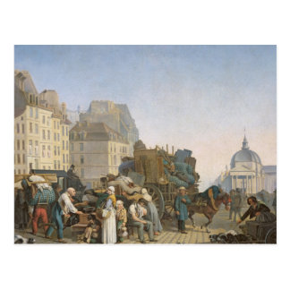 The House Movers, 1840 Postcard