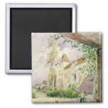 The House of Armande Bejart  in Meudon, c.1906 2 Inch Square Magnet
