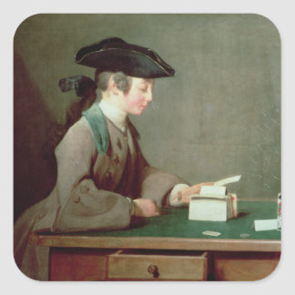 The House of Cards, c.1736-37 Square Sticker