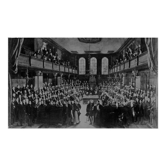 The House of Commons, 1833 Poster