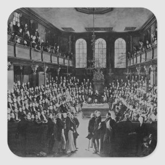 The House of Commons, 1833 Square Sticker