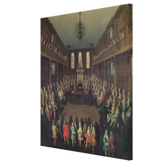 The House of Commons in Session, 1710 Canvas Print