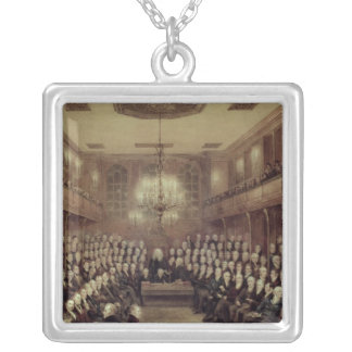 The House of Commons in Session Silver Plated Necklace