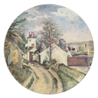The House of Doctor Gach... by Paul Cezanne Plate
