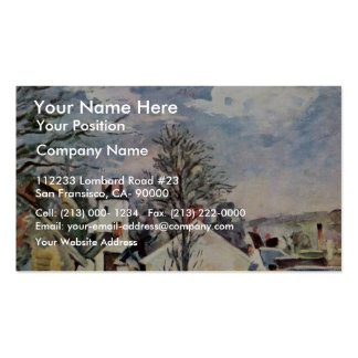 The House Of Dr. Gachet By Paul Cézanne Business Cards
