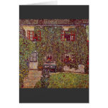 The House of Guard by Gustav Klimt Greeting Card