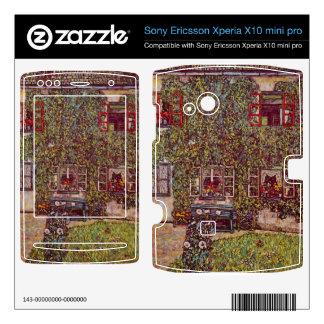 The House of Guard by Gustav Klimt Xperia X10 Skins